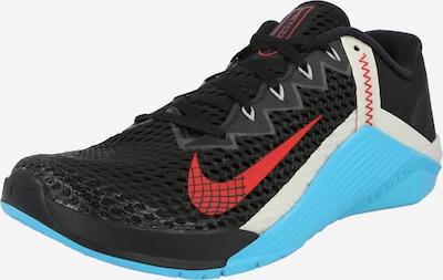 NIKE Sporta apavi 'METCON 6' tirkīza / sarkans / melns / balts, Preces skats