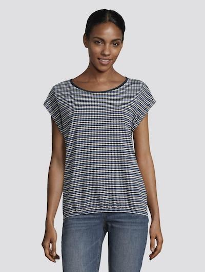 TOM TAILOR Shirt in de kleur Blauw / Wit: Vooraanzicht