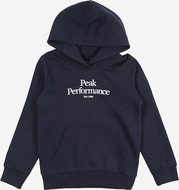 PEAK PERFORMANCE Sport sweatshirt i blå