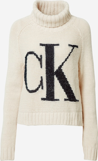 Calvin Klein Jeans Pull-over en crème / noir, Vue avec produit