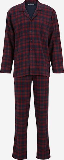 TOM TAILOR Pyjama in navy / weinrot, Produktansicht