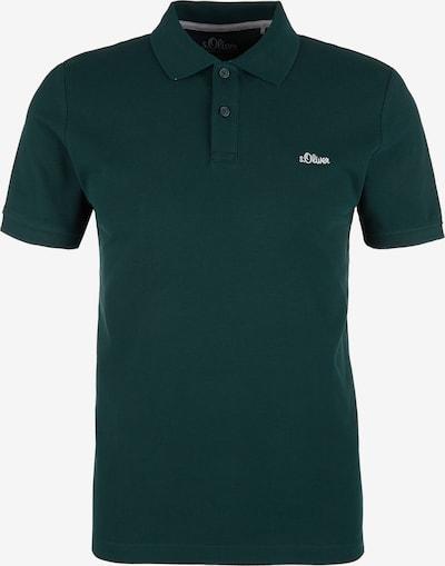 s.Oliver Poloshirt in dunkelgrün / weiß, Produktansicht