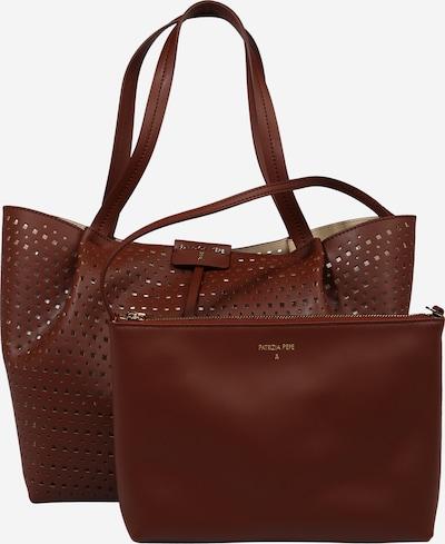 "PATRIZIA PEPE ""Shopper"" tipa soma zeltaina kastaņkrāsa, Preces skats"