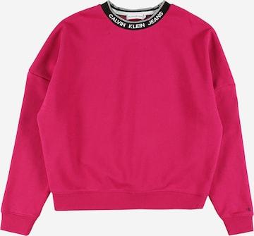 Calvin Klein Jeans Sweatshirt 'INTARSIA' in Pink