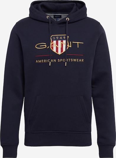 GANT Sweatshirt in dunkelblau / gold / rot / weiß, Produktansicht