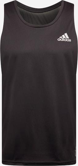 Tricou funcțional ADIDAS PERFORMANCE pe negru / argintiu, Vizualizare produs