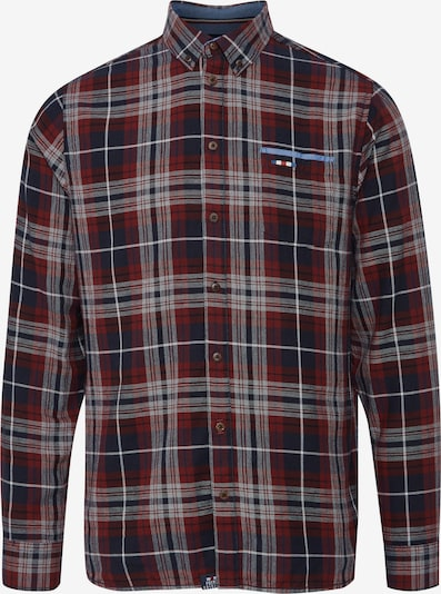 FQ1924 Langarmhemd 'Thorvald' in rot, Produktansicht