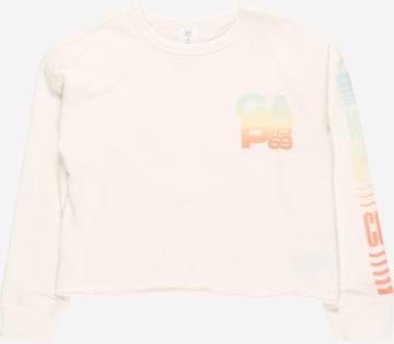 Sweat-shirt 'BOXYCREW' GAP en blanc
