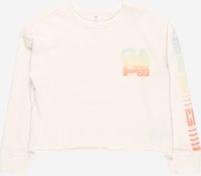 GAP Sweat-shirt 'BOXYCREW' en turquoise / jaune / orange / blanc cassé, Vue avec produit