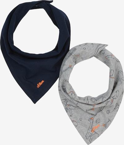 s.Oliver Tuch in marine / grau / orange, Produktansicht