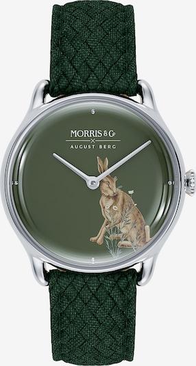 August Berg Analoog horloge 'MORRIS & CO Silver Green Perlon 30mm' in de kleur Groen, Productweergave
