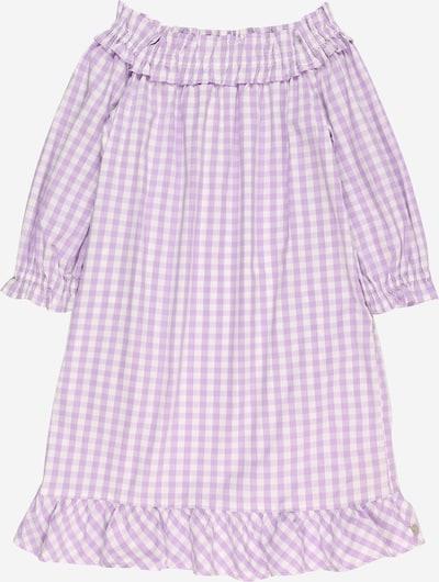 SCOTCH & SODA Kleid 'Organic cotton off-shoulder dress' in flieder / weiß, Produktansicht