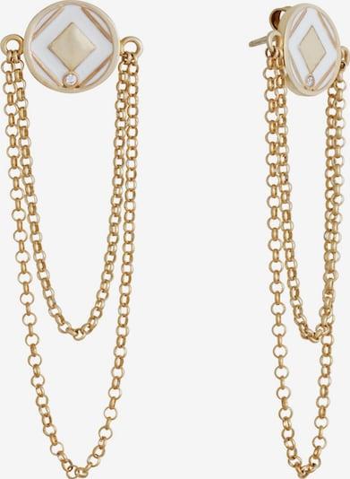 Zoccai Ohrringe in gold / weiß, Produktansicht