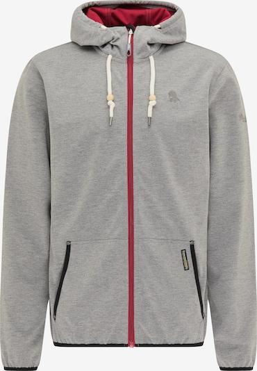 Schmuddelwedda Functionele jas in de kleur Grijs / Rood, Productweergave