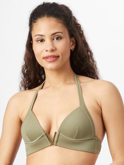 River Island Bikini top in Khaki, View model