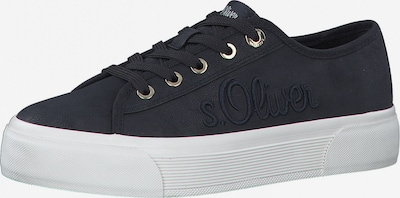 s.Oliver Baskets basses en bleu marine, Vue avec produit