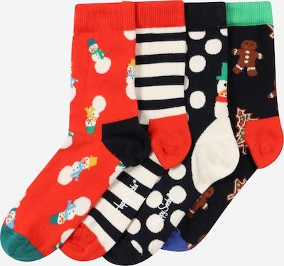 Happy Socks Socken in marine / braun / mischfarben / rot / schwarz / weiß, Produktansicht