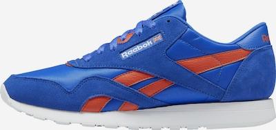 Reebok Classic Sportschuh in royalblau / orange, Produktansicht