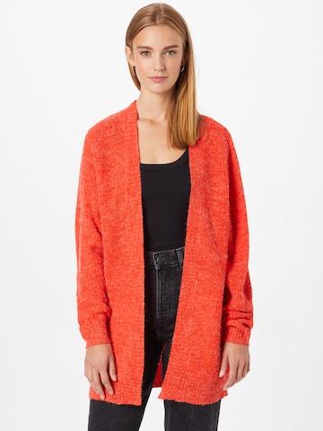 ICHI Knit Cardigan 'NOVO' in Red