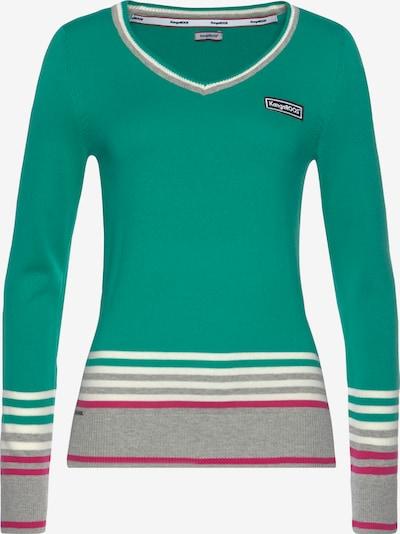 KangaROOS Pullover in grün / lila / weiß, Produktansicht