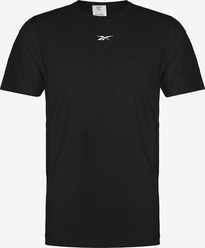 REEBOK Functioneel shirt 'Activchill Move Solid' in de kleur Zwart / Wit, Productweergave