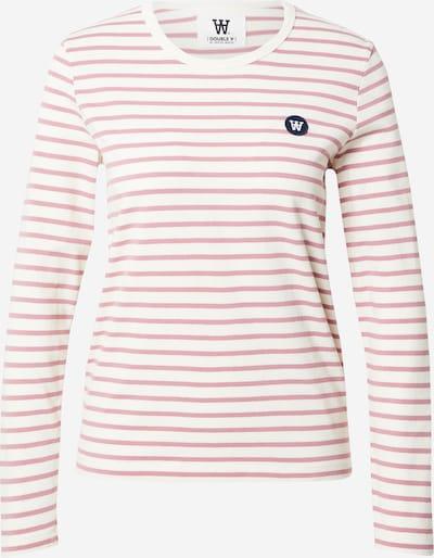 WOOD WOOD Тениска 'Moa' в розово / бяло, Преглед на продукта
