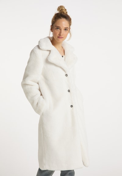DreiMaster Vintage Winter Coat in Wool white, View model