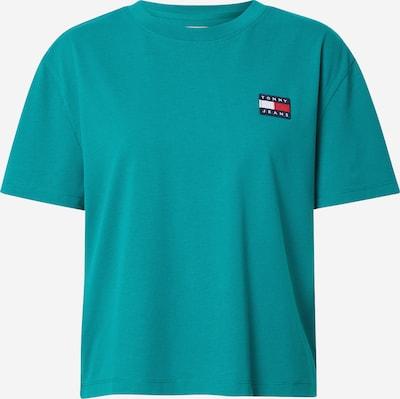 Marškinėliai 'Badge' iš Tommy Jeans , spalva - tamsiai mėlyna / turkio spalva / raudona / balta, Prekių apžvalga