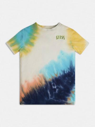 GUESS Тениска в морскосиньо / светлосиньо / жълто / пастелно оранжево / бяло, Преглед на продукта