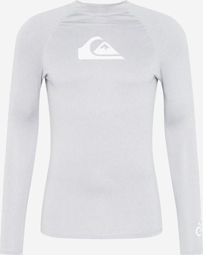 QUIKSILVER Camiseta funcional 'ALL TIME' en gris claro / blanco, Vista del producto