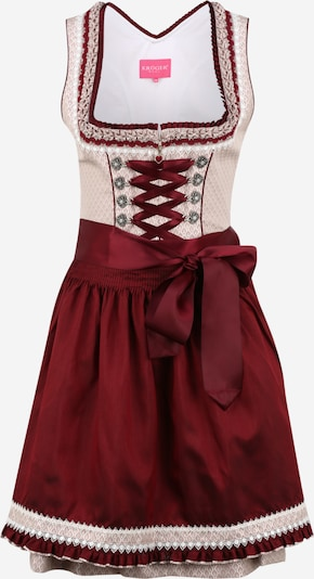 Krüger Madl Dirndl in dusky pink / red / white, Item view