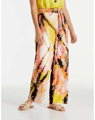 TAIFUN Hose in gelb / orange / rosa / schwarz, Modelansicht