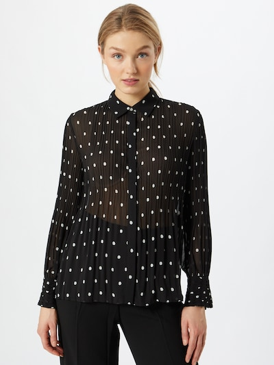 s.Oliver BLACK LABEL Bluza   črna / bela barva, Prikaz modela