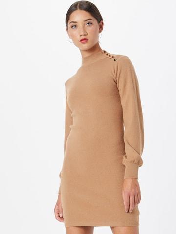 Lipsy Gebreide jurk in Beige