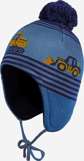 Megzta kepurė iš MAXIMO , spalva - tamsiai mėlyna / oranžinė, Prekių apžvalga