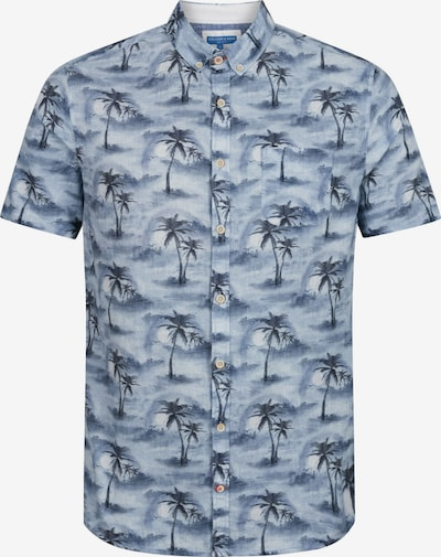 COLOURS & SONS Kurzarmhemd in blau / hellblau, Produktansicht