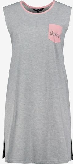 Ulla Popken Nachthemd in de kleur Lichtgrijs / Rosa, Productweergave