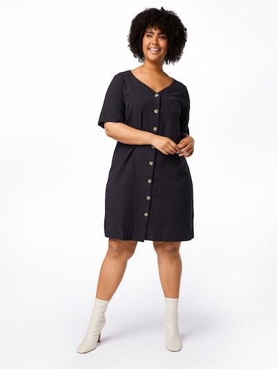 Rochie 'JEASY' Zizzi pe negru, Vizualizare model