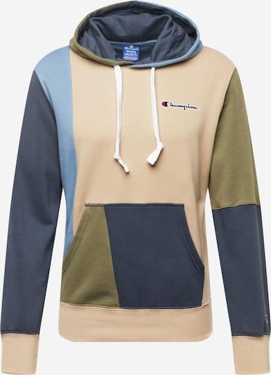 Bluză de molton Champion Authentic Athletic Apparel pe bej / albastru / verde, Vizualizare produs