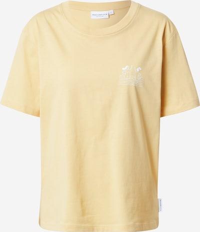 Hafendieb T-Shirt 'High 5' in hellgelb / weiß, Produktansicht
