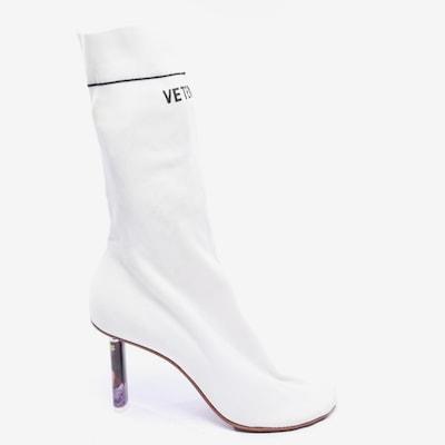 Vetements Stiefeletten in 40 in weiß, Produktansicht