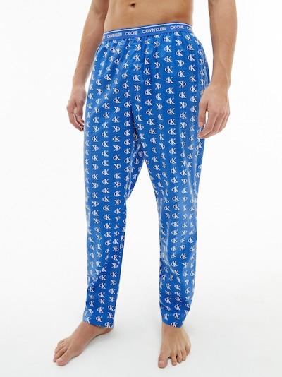 Calvin Klein Underwear Pyžamové nohavice - nebesky modrá / biela, Model/-ka