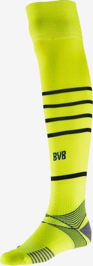 PUMA Sportsocken 'Borussia Dortmund' in neongrün / schwarz, Produktansicht