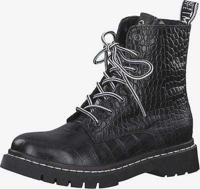 TAMARIS Stiefelette in schwarz / weiß, Produktansicht