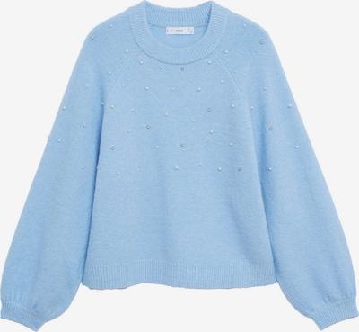 MANGO Pullover 'RAINY' in pastellblau / perlweiß, Produktansicht