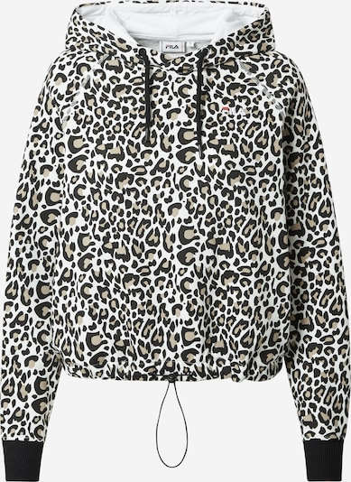 FILA Sweatshirt in de kleur Bruin / Zwart / Wit, Productweergave