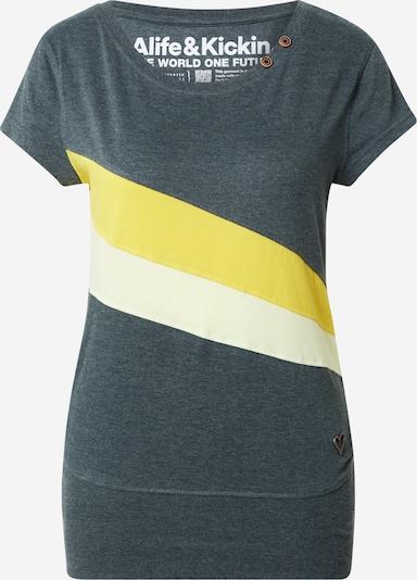 Alife and Kickin T-Shirt in creme / gelb / smaragd, Produktansicht