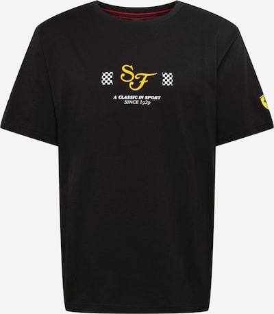 PUMA Shirt 'Scuderia Ferrari Race' in gelb / schwarz / weiß, Produktansicht