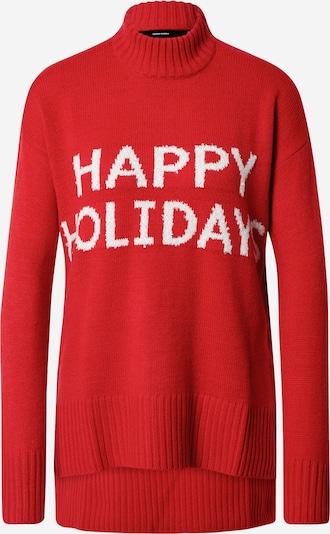 VERO MODA Pullover in rot / weiß, Produktansicht