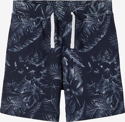 Pantaloni 'Falcan' NAME IT pe albastru noapte / alb, Vizualizare produs